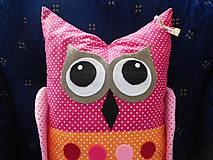 Úžitkový textil - vankúšik (vankúš) sovička Monika - 7095793_