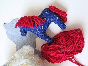 Hračky - DIY kit - hračka textilný koník - 7096005_