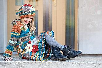 Detské oblečenie - Svetrokabátik a baretka - 7097808_