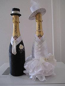 Dekorácie - svadobný pár nevesta a ženích - 7098650_