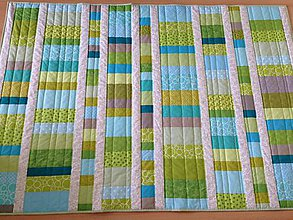 Úžitkový textil - Crazy mozaikové pásiky - 7095760_