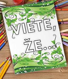 Papiernictvo - Linajková podložka do zošita - Viete, že...? 11 (listy a zeleň) - 7095576_