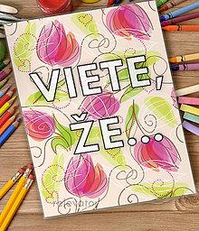 Detské doplnky - Linajková podložka do zošita - Viete, že...? (14 (tulipány)) - 7097715_