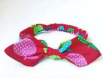 Ozdoby do vlasov - Pin Up headband on elastic for kids (funny apples) - 7100029_