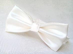 Doplnky - Svadobný pánsky motýlik (ivory/smotanový) - 7099512_