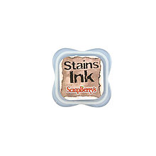 Farby-laky - Poduška ScrapBerry´s Stains Ink Pad Brown - 7099812_