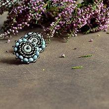 Náušnice - Lavender baldachins - vyšívané puzety - 7100135_