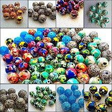 Materiál ručne robený - ručne maľované korálky - 7099393_