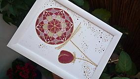 A5-Obrázok,pohľadnica - Mandala kvet