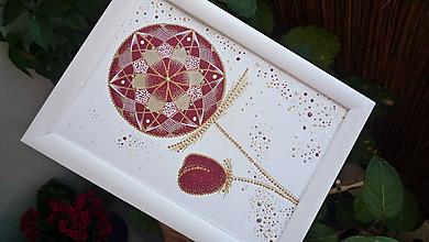 Obrazy - A5-Obraz - Mandala kvet - 7100727_