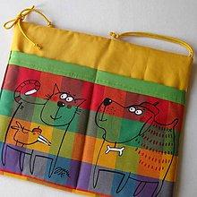 Textil - KAMARÁDI - kapsář na školní lavici - 7100697_