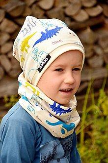 Detské súpravy - BIO bavlna dinosaurus-súpravička s menom - 7100890_