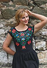 Šaty - Maľba na čierne šaty... - 7099224_