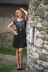 Šaty - Maľba na čierne šaty... - 7099225_