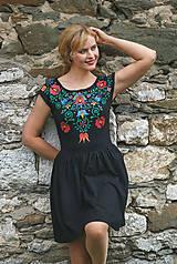 Šaty - Maľba na čierne šaty... - 7099869_