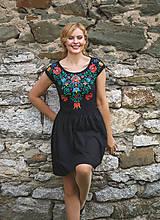 Šaty - Maľba na čierne šaty... - 7099870_