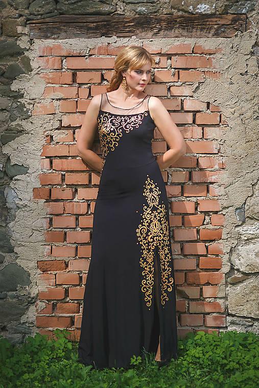 Šaty - MAĽBA na čierne dlhé šaty... - 7099698_