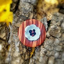 Odznaky/Brošne - FIMO drevené brošne hravé (abstrakt) - 7098863_