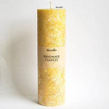 Svietidlá a sviečky - Žltá sviečka Ø45 - 7102546_