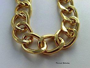 Komponenty - Bižutérna retiazka zlatá 18x22 - cena za 10 cm - 7101724_