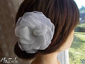 Ozdoby do vlasov - svadobná spona pre nevestu - 7100958_