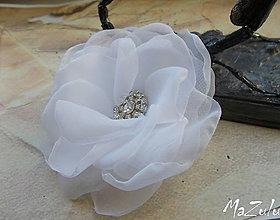 Ozdoby do vlasov - svadobná spona pre nevestu - 7100963_