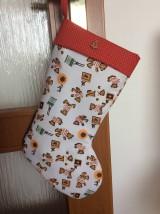 Dekorácie - mikulášska, vianočná čižma - 7101851_