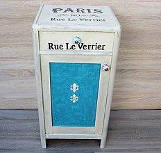 Nábytok - Skrinka Paris -starožitnosť - 7102883_