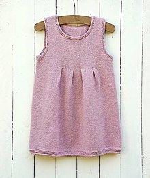 Detské oblečenie - Pletené detské šaty - 7101972_