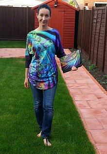 Textil - Panel dizajnový Crystal Kvet netopier tričko - 7102000_