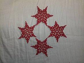 Dekorácie - Snehová vločka červená 1 - 7101093_