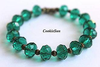 Náramky - Náramok z Emeraldu... - 7103007_