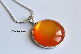 Náušnice - Glamour Orange (Prívesok 25mm) - 7103136_