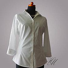 Košele - Košeľa biela bavlnená - 7102051_