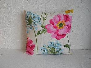 Úžitkový textil - Návlek na vankúš - Ružová pivónia II - 7104787_