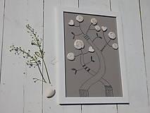 Detské doplnky - Obrázok do detskej izby univerzálny - Strom šálikový - 7105014_