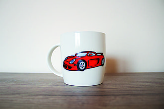 Nádoby - Červené autíčko - 7106227_