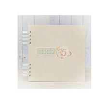 Polotovary - Chipboard album 20x20cm krémový, 10 listov - 7104323_