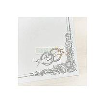 Polotovary - Svadobná kniha hostí strieborná, 40 listov - 7104932_