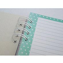 Polotovary - Zápisník A5 Tyrkysové bodky - 7104998_