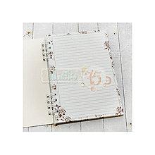 Polotovary - Zápisník A5 Tmavo hnedé Ruže - 7105036_