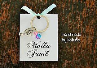 Darčeky pre svadobčanov - darček pre svadobčanov kľúčenka - 7103936_