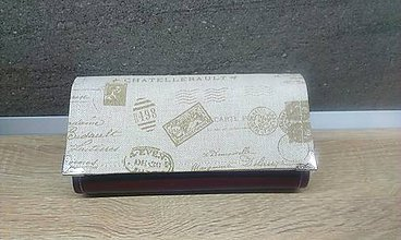 Peňaženky - Na 12 kariet,koženka + bavlna - 7104752_