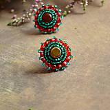 - Red-Turquoise baldachins - vyšívané puzety - 7105267_