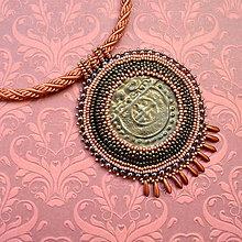 Náhrdelníky - Pottery Necklace - vyšívaný náhrdelník - 7105312_