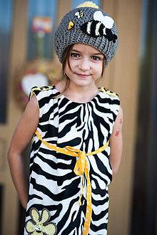 Detské oblečenie - Zebra šaty - 7103739_