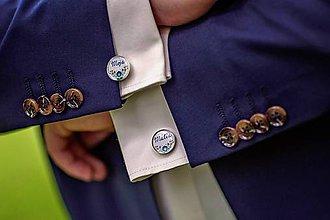 Šperky - Manžetky pre ženícha s vlastným textom - 7104177_