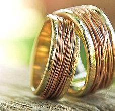Prstene - Prepletené cesty osudu /žlto-červené/ - 7106459_