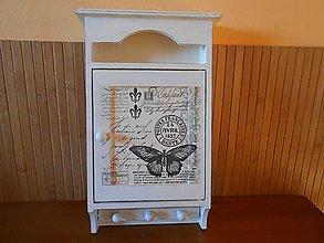 Krabičky - vintage motýľ - 7108760_