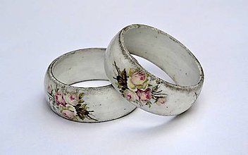 Náramky - drevený náramok s ružami - 7108195_
